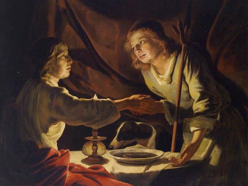 Matthias Stomer: Jákob és Ezsaiás