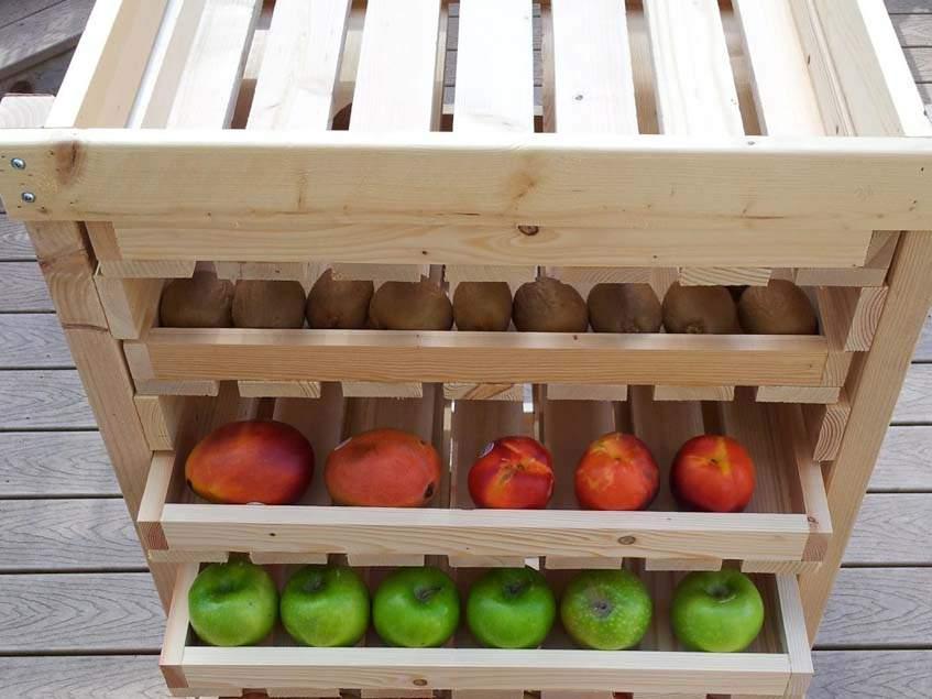 gyümölcs- és zöldségtároló