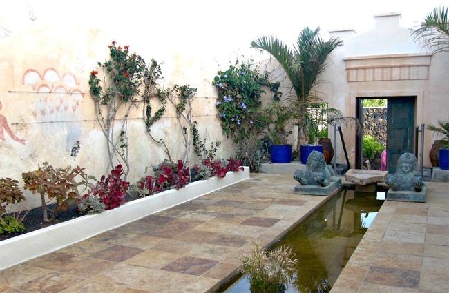 egyiptomi stílusú kert