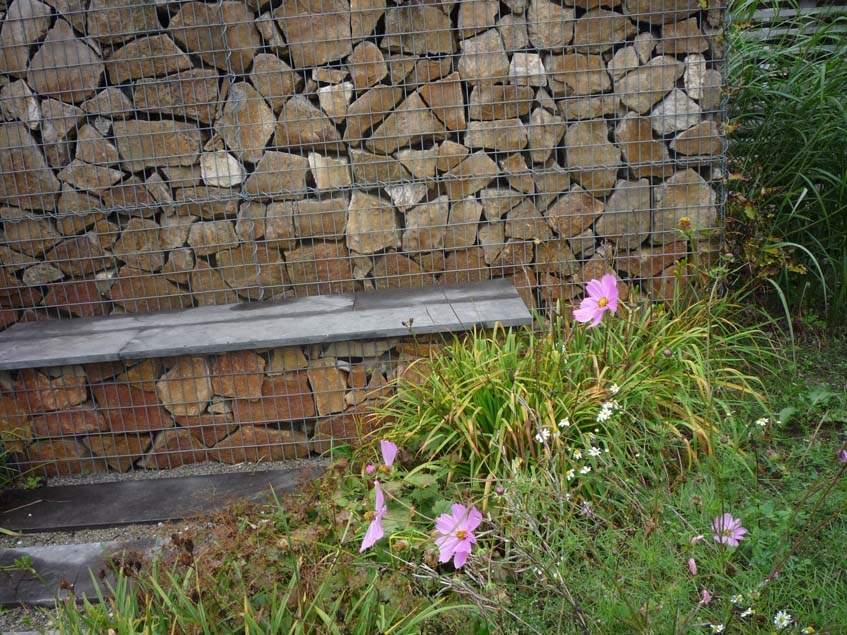 gabion térelvalasztó paddal
