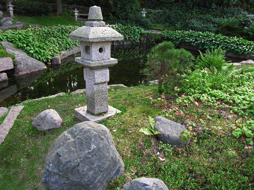 japánkert kövekkel