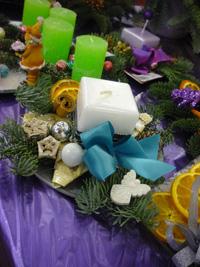 karácsonyi díszgyertyák