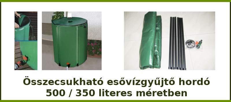Összecsukható esővízgyűjtő hordó – 500 liter