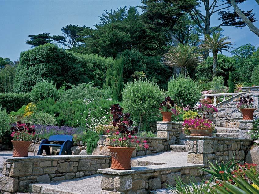 mediterrán teraszos kert