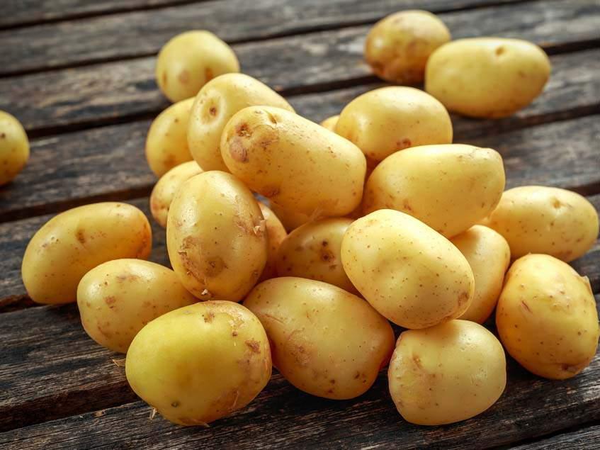 megtisztított újkrumpli