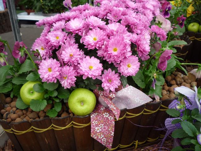 őszi virágláda