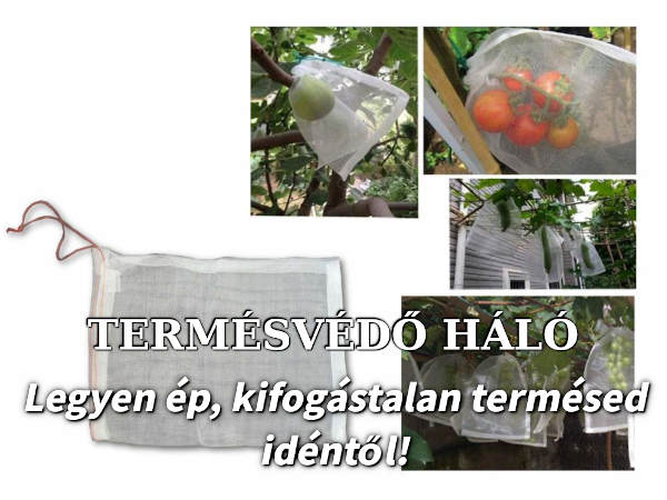 zsinórral zárható termésvédő hálók