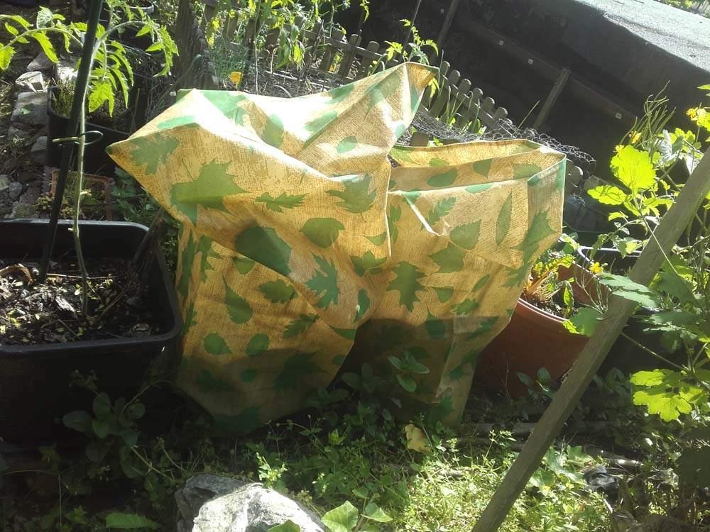 fagyvédő, növényvédő zsák használata