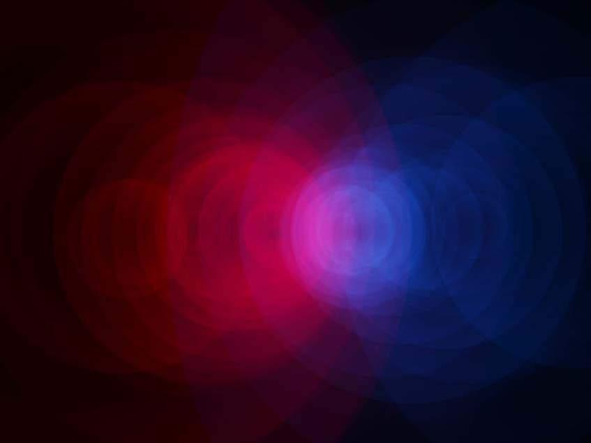 vörös és kék fény