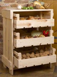zöldség-gümölcs tároló